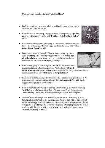 Norman MacCaig Set Text Comparison charts