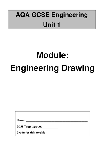 Work book to aid teaching of Engineering drawing.