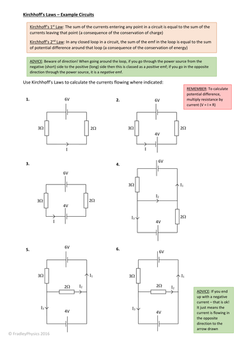 Kirchhoff's (or Kirchoff's) Laws - Practice Questions - Series and Parallel  Circuits