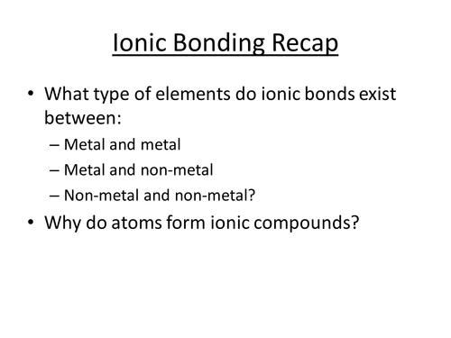 Simple Covalent Compounds - complete lesson