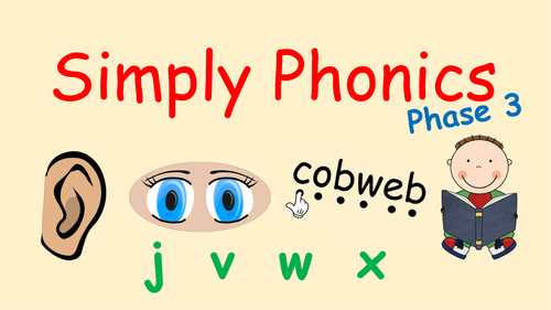 Phase 3 Phonics - Powerpoint to Introduce Set 6 with Blending and Tricky Words