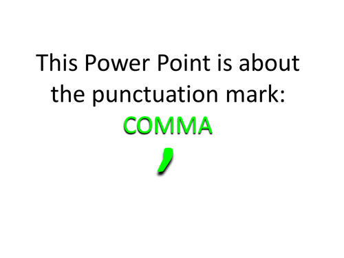 Punctuation Explained: Commas