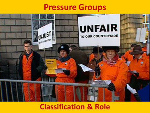 Pressure Groups Classification & Role
