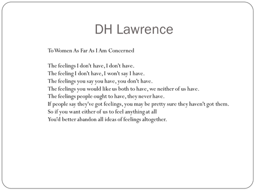 """Sons and Lovers"" (Chap. 7) DH Lawrence"