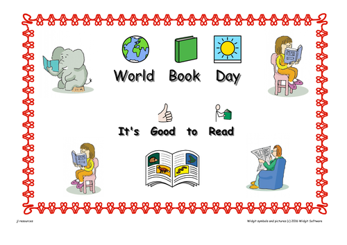 World Book Day Worksheets  Symbol Supported