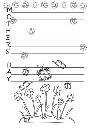 Printable mother's day acrostic poems.