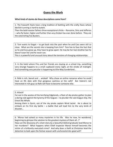 a five paragraph essay compare and contrast by hmch teaching  ks3 horowitz horror sow 6 weeks ready to teach lessons