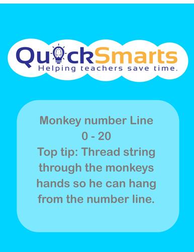 Monkey number line 0 - 20