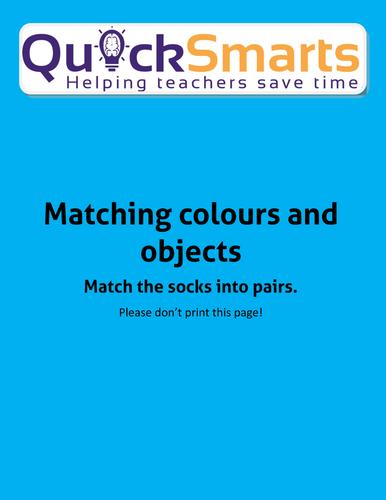 Matching objects (socks)