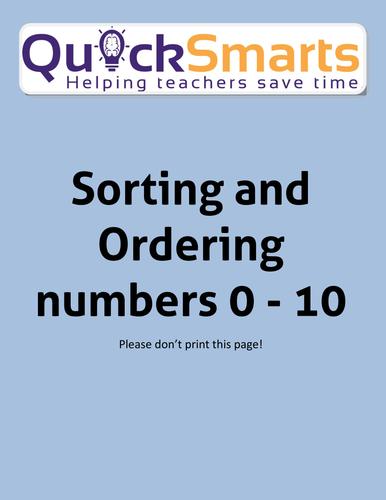 Ordering numbers 1 - 10