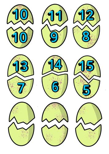 Dinosaur Egg Number Bonds to Twenty