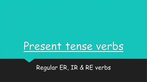 Present tense PPT for French