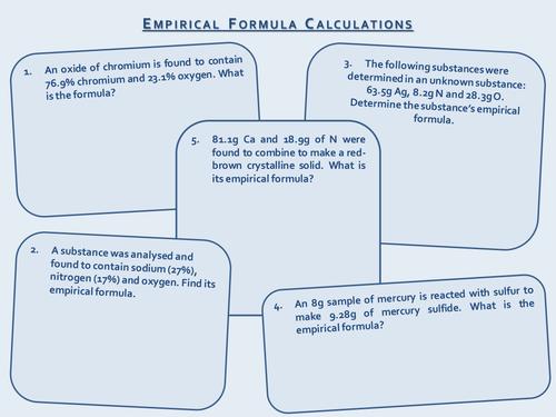 Empirical and Molecular Formula by prhilton - Teaching Resources - TES