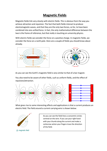 AQA A-level Physics: Magnetic Fields (notes and question booklet)
