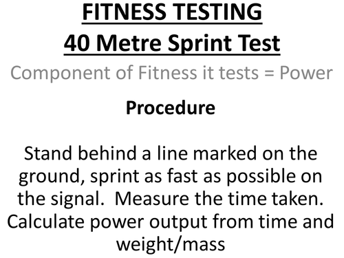AQA PE Fitness Testing