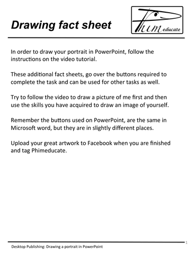 Drawing a portrait in powerpoint