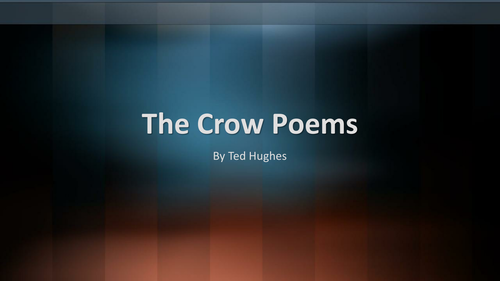 Ted HUghes: Crow Poems