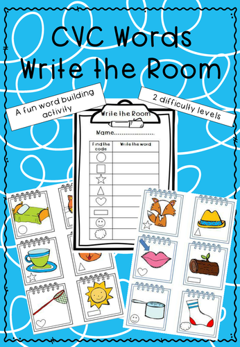 CVC Words 'Write the Room'