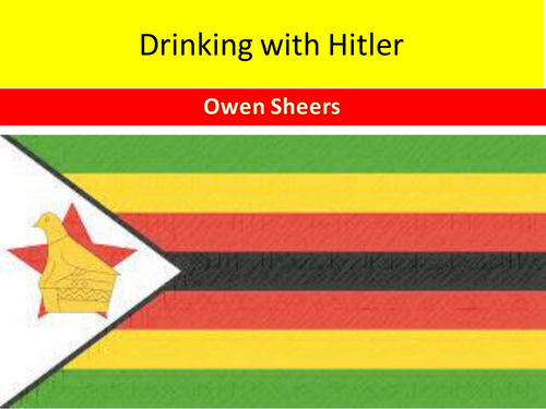 Owen Sheers: Drinking with Hitler