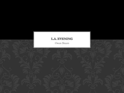 Owen Sheers: LA Evening