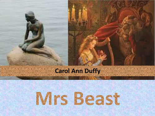 Carol Ann Duffy: Mrs Beast