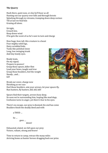 Three Poems (Narrative and Free-Verse) Fossil, Stone Age and Iron Age