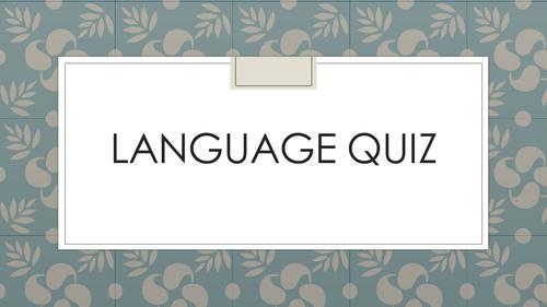 AS Language Quiz
