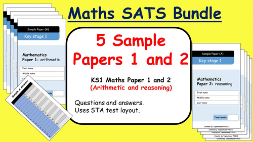 KS1 2016 SATs Maths Sample Papers 1 and 2 (Arithmetic and ...