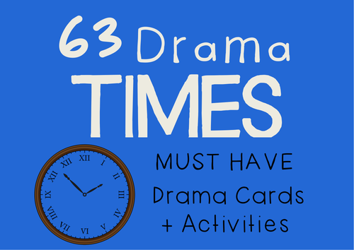 TIME PERIODS : SETTINGS (History, English, Drama Cards + Suggested Learning Activities)