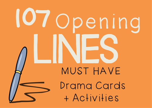 OPENING LINES Drama / English Cards + Lesson Activities