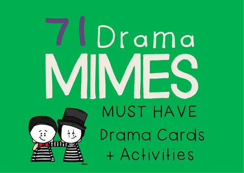 MIME Drama Cards + Mime Activities