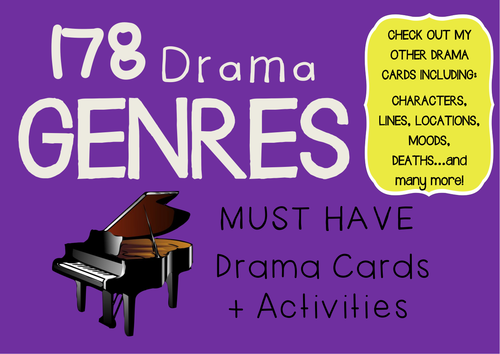 Drama Cards GENRES (FREE) + Learning Activities