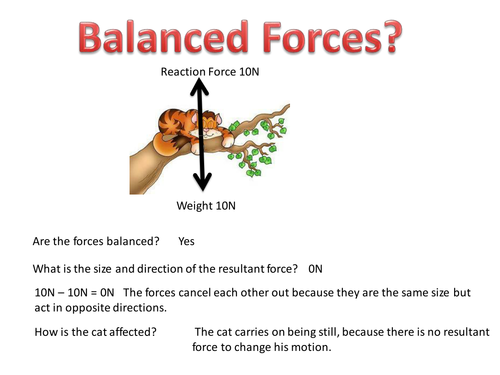 Balanced & Unbalanced Forces and Resultant Force by ...