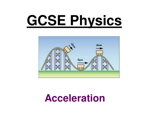 GCSE Physics - Acceleration, Hookes Law and Moments ppts (Foundation/SEN)