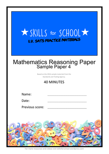 PRACTICE REASONING SATS PAPER #004 by Skills for School
