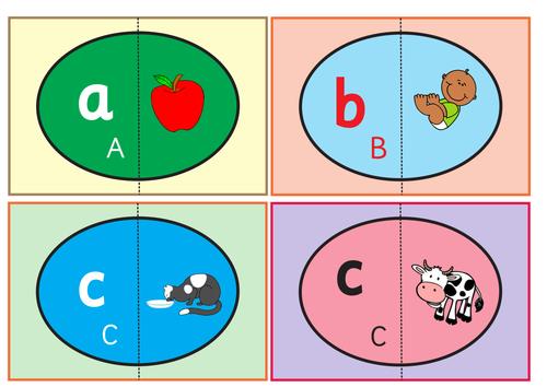 Alphabet Eggs Flashcards. Matching Game .
