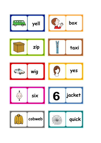 Letters and Sounds phonics  Phase 3  words dominoes . 6 SETS .