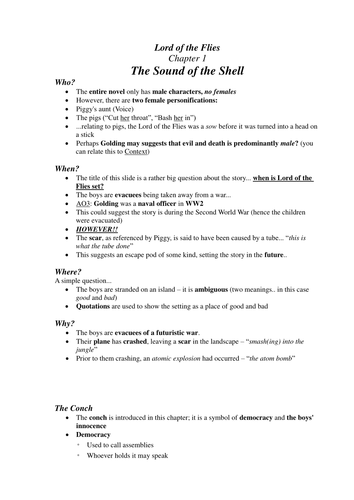 lord of the flies gcse essay questions Lord of the flies essay titles essay lord of the flies the lord of the flies plot outline gcse english marked by lord of the flies: revision packsymbolspiggy's glassesrepresent power, civilisation and order.