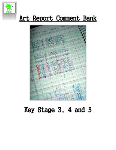 Art Report Comment Bank