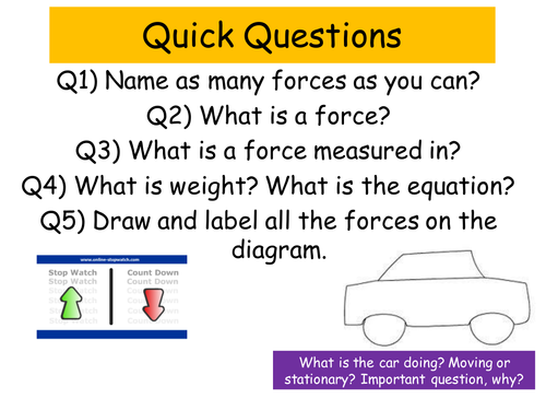 iGCSE Physics Section 1: Forces and Motion Worksheets by ...