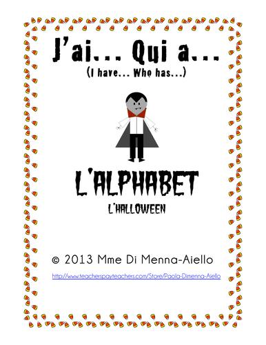J'ai... Qui a... L'alphabet/L'hallowe'en (I have... Who has)