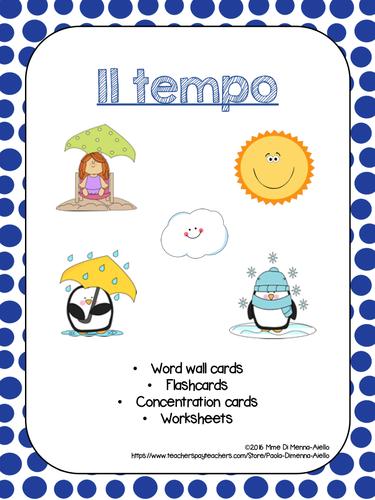 Il tempo (Weather Expressions/Game) Italian