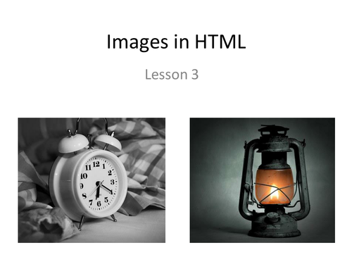 Images in HTML Lesson 3