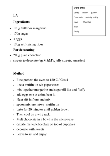 mixed up instructions for gingerbread man