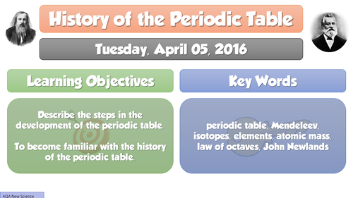 new gcse chemistry 2016 history of periodic table full lesson resource pack