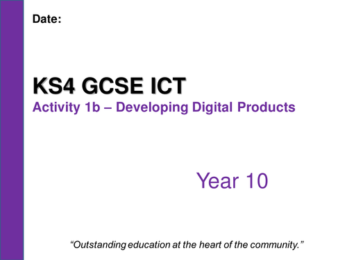 gcse ict coursework spreadsheets