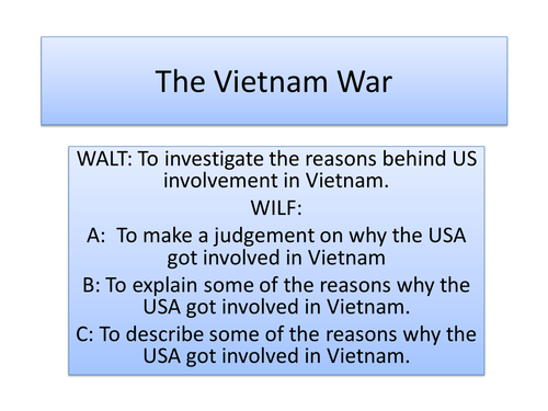Vietnam War - Intro 1945-1954 - Whole lesson