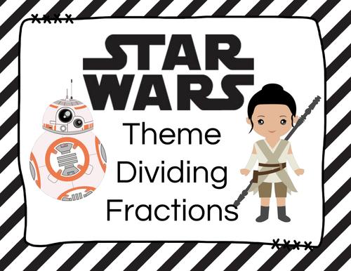 STAR WARS Dividing Fractions Task Cards