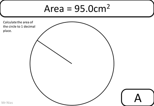Area of a Circle Treasure Hunt (measure and calculate) by