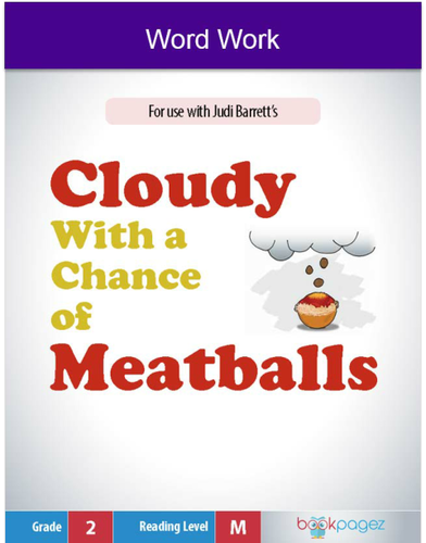 Cloudy With a Chance of Meatballs Word Work (Two – Syllable Words), Second Grade